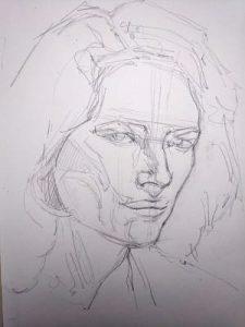 retrato encaje