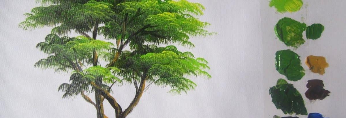 pintar árboles oleo