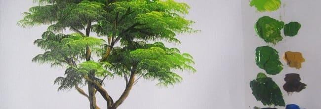 Aprender A Pintar árboles Al óleo Ojos Azules Estudio